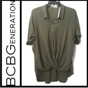 BCBGeneration high low short sleeved top